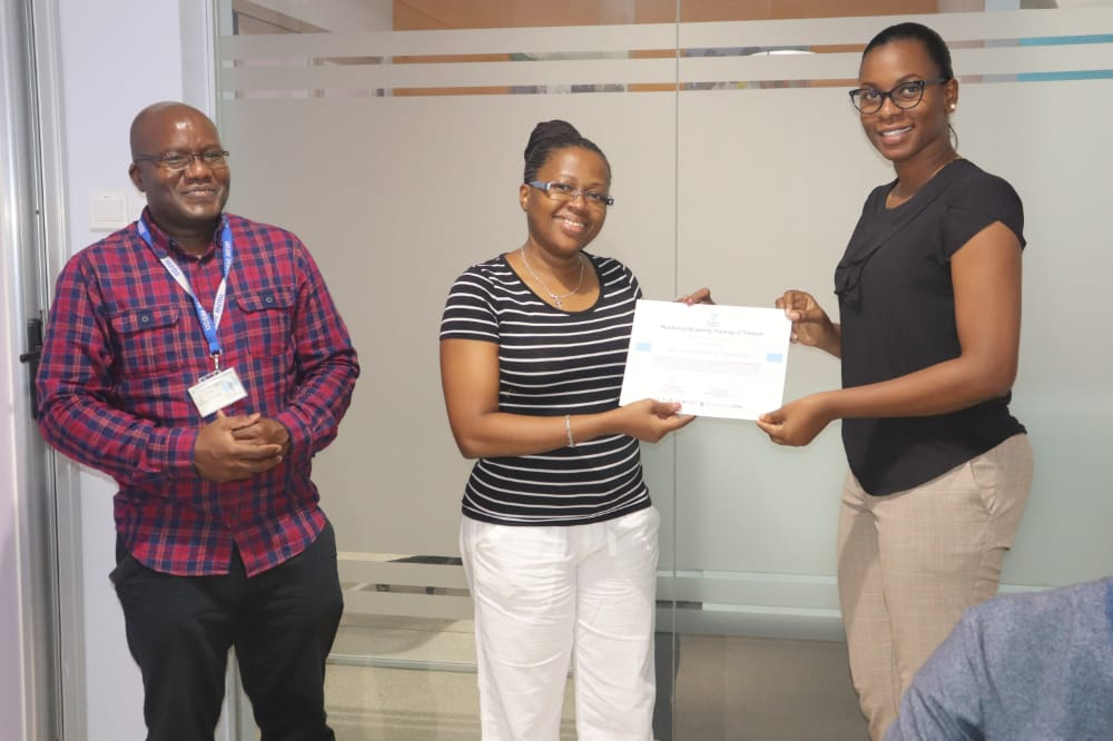 Receiving certificates after the training of the trainers